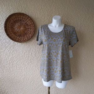 Lularoe classic t floral print high low nwt